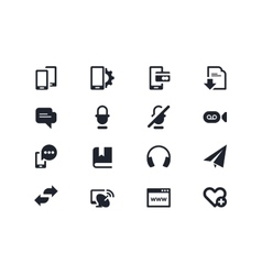 Smartphones and communication icons lyra series vector