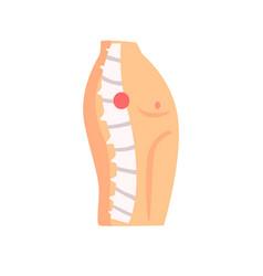 Spine injury pain cartoon o vector
