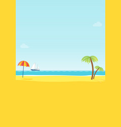 Summer tropical sea beach background vector