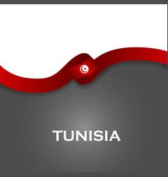 Tunisia sport style flag ribbon classic style vector