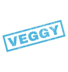 Veggy rubber stamp vector