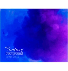 Water color blue-purple background vector image vector image