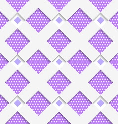White geometrical ornament with white net and dots vector