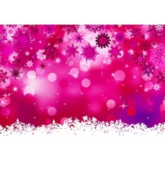 Elegant christmas pink with snowflakes eps 8 vector