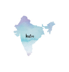 abstract india map vector image