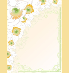 Hand drawn vertical card vintage art deco style vector
