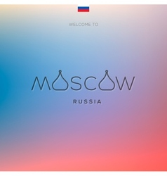 World cities labels - moscow vector