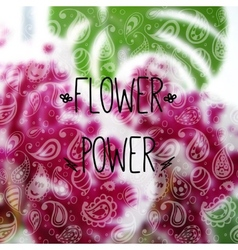 Blurred photographic background and text flower vector