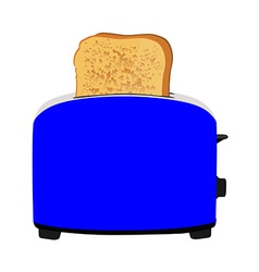 Toaster with bread vector