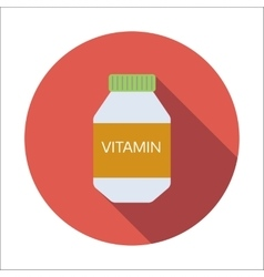 Vitamin flat icon vector