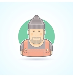 Worker repairman master icon vector