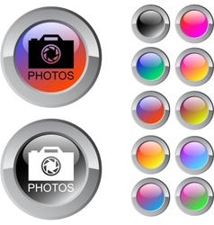 Photos multicolor round button vector