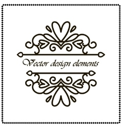 frame border with black curls on a white vector image