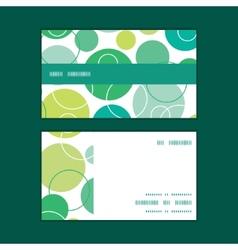 Abstract green circles horizontal stripe vector