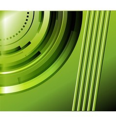 Abstract green technical background vector image vector image