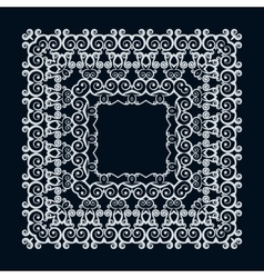 Abstract mono line pattern frames vector image
