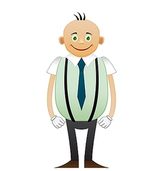 Bald happy office man vector image vector image