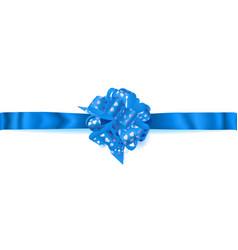 big horizontal bow made of ribbon with small vector image vector image