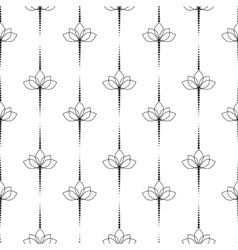 Black and White Flower Pattern vector image vector image