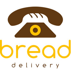Bread delivery negative space concept with phone vector