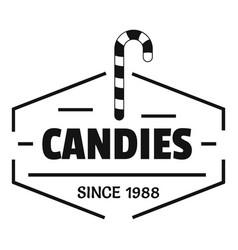 Candies logo simple black style vector