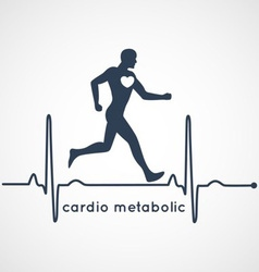 Cardio Metabolic Poster vector image