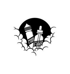 Cloudy theme personal vaporizer vape e-cigarette vector