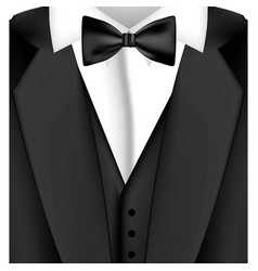 colorful sticker suit with bow tie icon vector image vector image