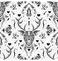 Deer head Seamless pattern vector image