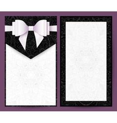 Elegant black and white wedding invitation vector image