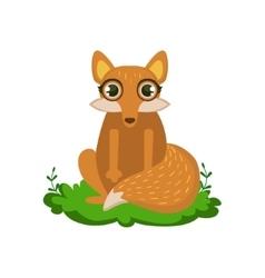 Fox friendly forest animal vector