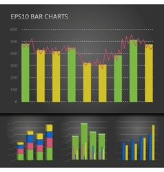 Graph bar chart vector image