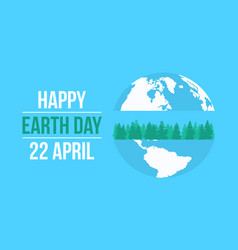 Happy earth day celebration collection vector