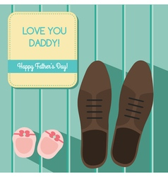 Happy fathers day card design vector image vector image