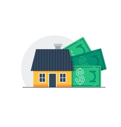 House cost home budget concept property expenses vector
