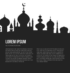Islamic city template vector