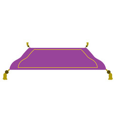 Isolated magic carpet vector