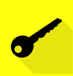 Key sign black icon with flat style vector