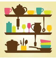 Kitchen wall vector image vector image