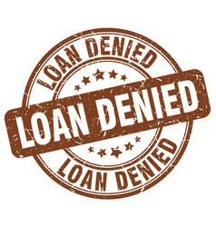 Loan denied vector