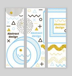 mempis banner set golden hipster design vector image vector image