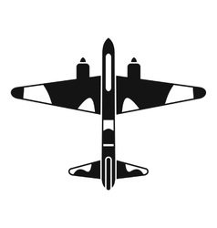 Military fighter aircraft icon simple style vector