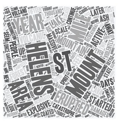 Mount st helens text background wordcloud concept vector