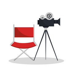 movie entertainment elements icon vector image