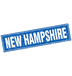 New hampshire blue square grunge vintage isolated vector
