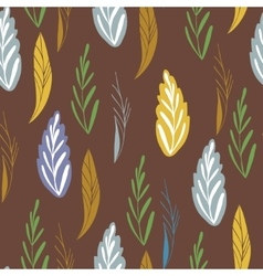 pattern in autumn colord Seamless pattern vector image