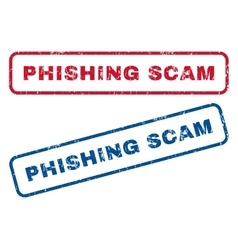Phishing scam rubber stamps vector
