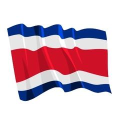 Political waving flag of costa rica vector