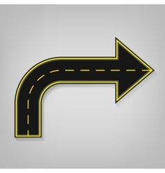 Road arrow vector image