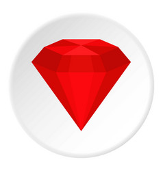Ruby icon circle vector